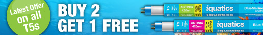 Buy 2 Get 1 FREE on all T5 Aquarium Lighting Bulbs