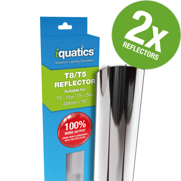 2 X IQuatics 24W T5/15W T8 Light Tube Reflector *JUWEL