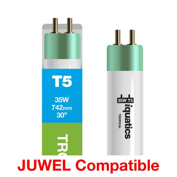 3 x iQuatics 35w JUWEL Compatible T5 Tropical-Pink Hue-Colour enhancing/Growth