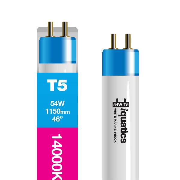 3 X IQuatics 54w T5 White Marine 14000K -Fluorescent Tube