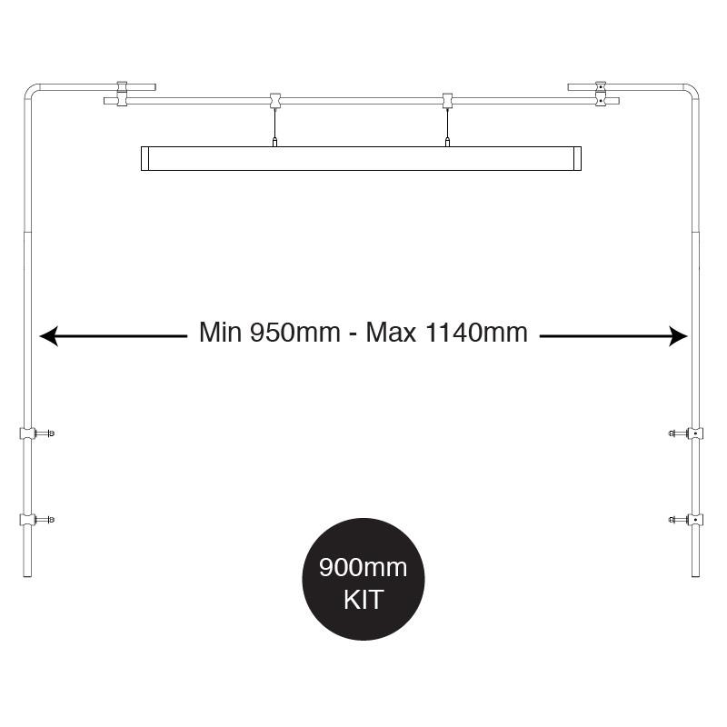 iQuatics Universal Aquarium Light Hanging System For Corner Aquariums (900mm)