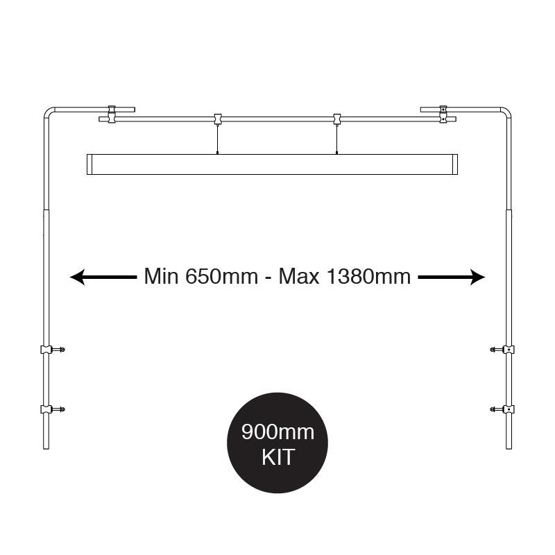 iQuatics Universal Aquarium Lighting Mounting Kit/Hanging System (900mm) 9 • EUR 120,72