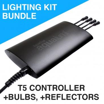 hagen glo arcadia twin t5 electronic controller-iQuatics Aqualumi T5 Flourecent Tube Aquarium Controller Kit with T5 tubes and reflectors
