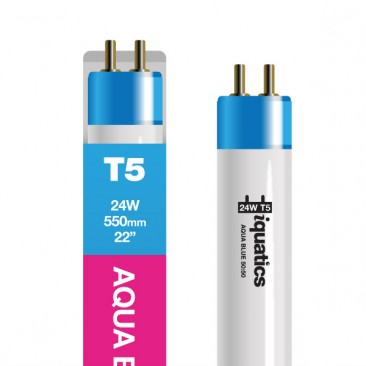 24W Aquarium T5 Fluorescent Special Aqua Blue 50:50 Hybrid Tube Bulb
