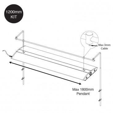 Hanging Bar dimensions back mount Fluval Venezia 190 Juwel Trigon 190 Juwel Trigon 350