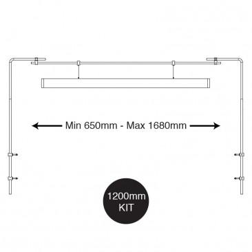 Hanging Bar dimensions side mount