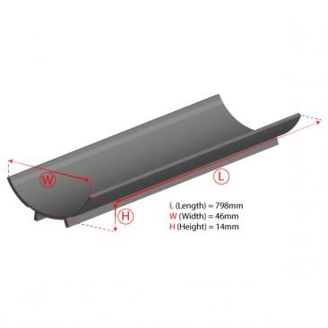 39W T5 Aluminium Reflector Dimensions