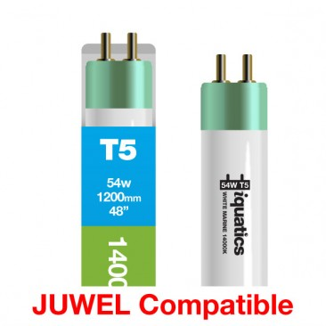 54W 1200 1200mm Juwel Aquarium T5 Fluorescent White Marine 14000K 14K Tube Bulb