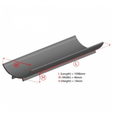 54W T5 Aluminium Reflector Dimensions