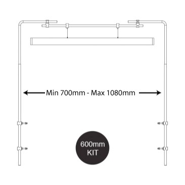 Hanging Bar dimensions side mount