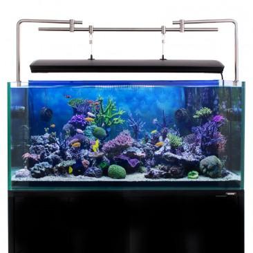Aquarium LED lighting Bracket - full setup side tank mount with corals