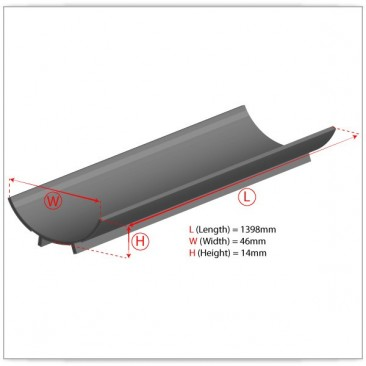 80W T5 Reflector Dimensions