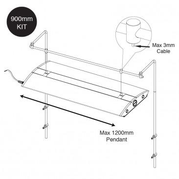 Hanging Bar dimensions back mount