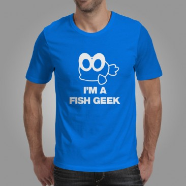 iQuatics Fish Geek T-Shirt Front
