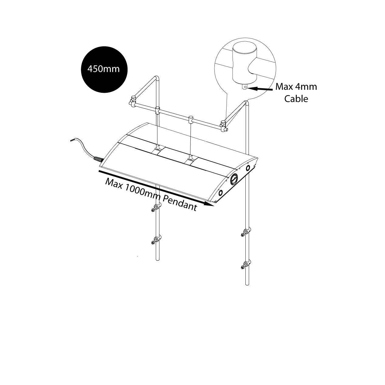 Iquatics Aqualumi T5 Controller: IQuatics Universal Aquarium Lighting Mounting Kit/Hanging
